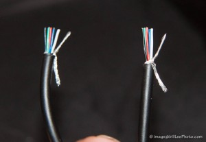 "Match the wiring order for both ends, including the stranded ""wire"""
